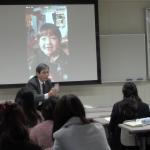テレビ電話で大学生・高校生と交流しました!